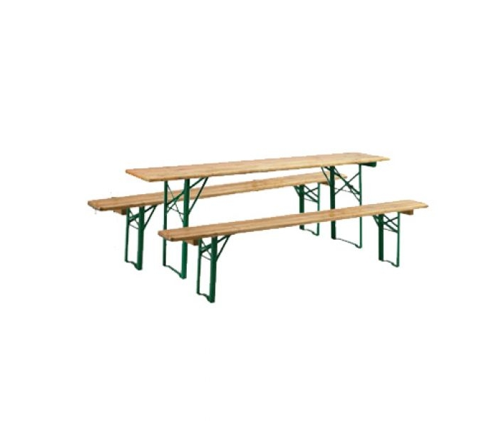 Table et bancs pliants