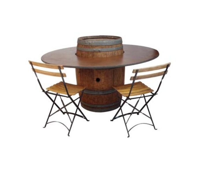 Table barrique