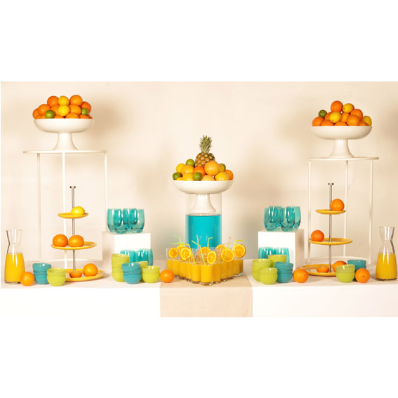 Pack de décoration buffet Agrumes