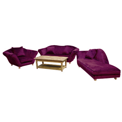 Ensemble velours aubergine